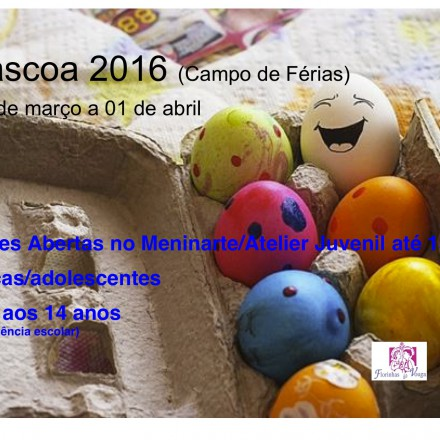 """Campo de Férias """"Páscoa 2016"""""""